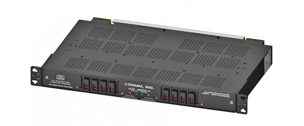 TPA Fuse Panel, 4/4 Position, Stud Input, Barrier Strip Output, Power and Fuse Fail Alarm, -/+24-48V DC