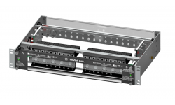 High Current PDU, 10/10 Versa-Slots, Dual Inputs per Bus, 2 Hole Lug Input/Output, Power, Fuse Fail Alarm, 23' Wide, 2U High