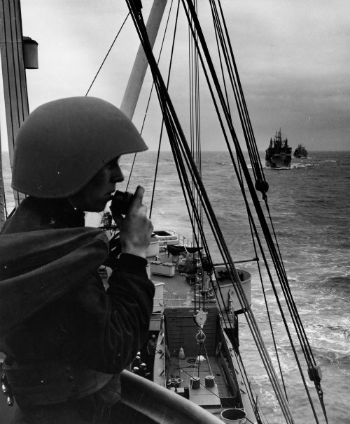 Official United States Coast Guard Photo from World War II of a Coast Guardsman on the Radio